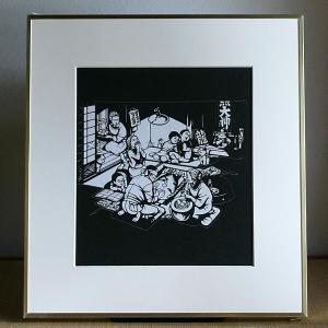 【送料無料!】額 色紙(切り絵)【福笑い】|rakusaicollection