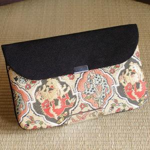 高台寺所蔵秀吉陣羽織鳥獣文様綴織 かぶせポーチ|rakusaicollection