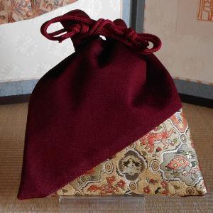 高台寺所蔵秀吉陣羽織鳥獣文様綴織 オリジナル 角平巾着|rakusaicollection