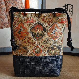 高台寺所蔵秀吉陣羽織鳥獣文様綴織 信玄袋|rakusaicollection