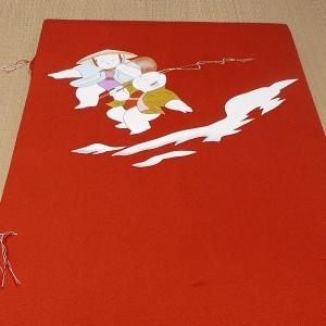 【送料無料!】西陣織正絹 名古屋帯(塩瀬 手描き友禅)|rakusaicollection