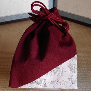 オリジナル 角平巾着(ピンク)|rakusaicollection