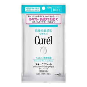 花王 Curel キュレル 潤浸保湿 スキンケアシート 顔・からだ用 10枚入 (医薬部外品)