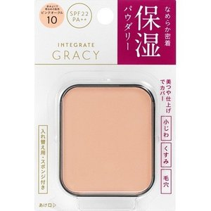 資生堂 インテグレート グレイシィ モイストパクトEX ピンクオークル10 赤みよりで明るめの肌色  (レフィル) 11g|rakushindenki