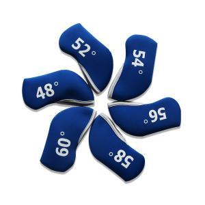 ヘッドカバー ウェッジカバー アイアンカバー キャンディカラー 番手付 6個入り 全6色選ぶ可能 rakushogolf