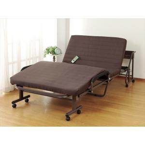 ベッド ベット 折り畳みベッド 折りたたみベッド おりたたみベッド シングル 折りたたみ 収納式無段階リクライニングベッド 電動タイプ|rakusouya