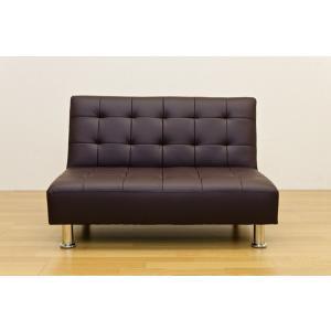 ソファベッド 簡易ベッド セミダブル レザーシート コンパクト OPERA mini ブラウン rakusouya