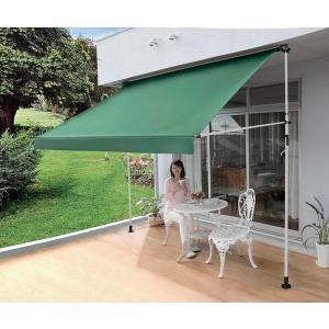 庭 ベランダ 屋外 突っ張り式 日よけスクリーン ブラインドDX すだれ付き 工事不要 幅310cm|rakusouya