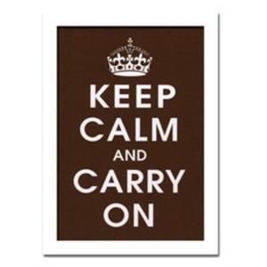 ウォールデコレーション アートパネル モダン 絵 Vintage Reproduction/Keep Calm (chocolate) sd3097117 rakusouya