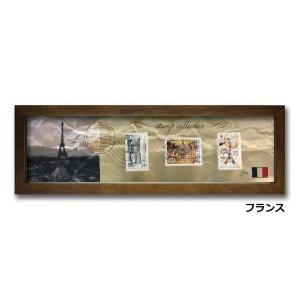 ウォールデコレーション アートパネル モダン 絵 切手 アンティーク Stamp Collection/フランス sd3067194 rakusouya