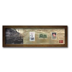 ウォールデコレーション アートパネル モダン 絵 切手 アンティーク Stamp Collection/デンマーク sd3067194 rakusouya