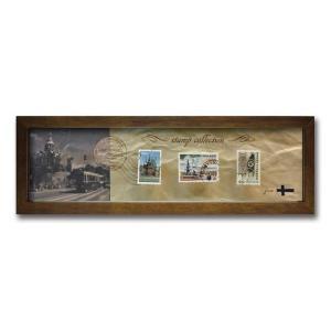 ウォールデコレーション アートパネル モダン 絵 切手 アンティーク Stamp Collection/フィンランド sd3067194 rakusouya