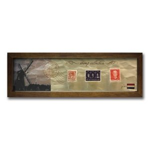 ウォールデコレーション アートパネル モダン 絵 切手 アンティーク Stamp Collection/オランダ sd3067194 rakusouya
