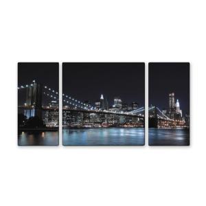 ウォールデコレーション アートパネル モダン 絵 キャンバスアート BrooklynBridgeブルックリンブリッジ W1000×H500 sd4999340 rakusouya