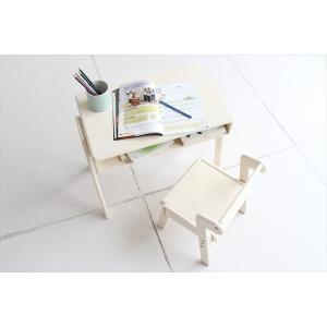 キッズ用机 テーブル 学習机セット Picc's Study Set/スタディーセット 高さ調整付|rakusouya