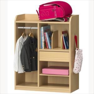 子供部屋 収納 子ども部屋 ハンガー 衣類 ランドセルラック こども用 LAK-9075H|rakusouya