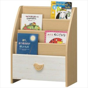 子供部屋 収納 子ども部屋 ラック 北欧 絵本 こども用 LAK-7055BSA|rakusouya