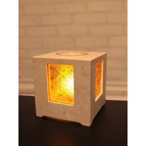 インテリアライト ストーン×ガラスのアロマランプ sd1555922|rakusouya