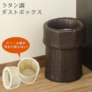 ごみばこ ゴミ箱 ダストボックス おしゃれ ラタンカバー付 ダストボックス rakusouya