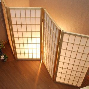 パーテーション 衝立 間仕切り 目隠し お座敷・客席などの目隠しに 町家 古民家 和風 日本風 衝立 4連自立タイプ rakusouya