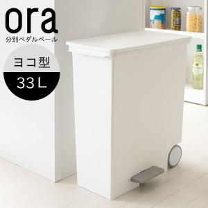 ごみ ゴミ箱 ダストボックス おしゃれ ora ヨコ型ペダルペール 33l 日本製|rakusouya