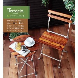 庭 ベランダ 屋外 アウトドア Terracia/テラシア テーブル チェア3点セット|rakusouya