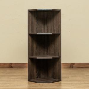 お部屋のコーナー部分のデッドスペースを有効に使える収納ラックです。  連結ピン付きで縦に積んで拡張で...