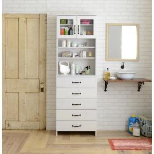 収納ラック 洗面専用 ホワイト ランドリー収納 ドリー 幅60cm sd4301149|rakusouya