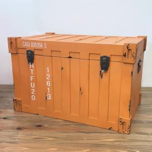 収納 キャビネット ボックス収納 ラック 棚 トランクケース型ボックス イエロー インダストリアル アンティーク調 完成品 rakusouya