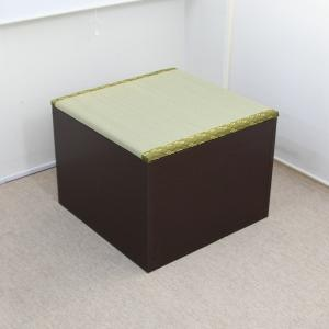 収納ボックス 高床式ユニット畳 日本製 低ホルムアルデヒド 半畳 高めタイプ ダークブラウン|rakusouya