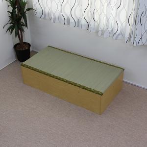 ※12月上旬入荷分ご予約※収納ボックス 高床式ユニット畳 日本製 低ホルムアルデヒド 1畳 ナチュラル|rakusouya