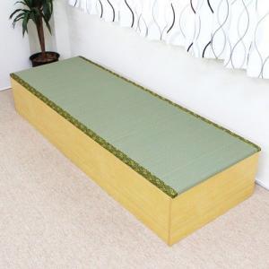 収納ボックス 高床式ユニット畳 1.5畳 ナチュラル|rakusouya