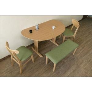 ダイニングテーブル 机 ナチュラル カントリー 半円135x80cm ナチュラル rakusouya