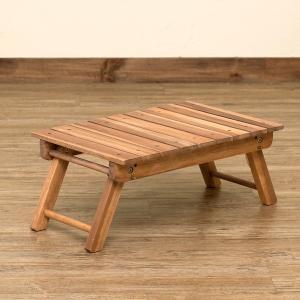 ローテーブル テーブル コンパクト 折り畳み 折りたたみ ウッド 折りたたみ式テーブル 完成品 アカシア材オイル仕上げ キャンプ グランピング 幅53cm rakusouya