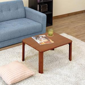 ローテーブル 座卓 ちゃぶ台 リビングテーブル コンパクト 折り畳み 折りたたみ NEWウッディーテーブル60cm rakusouya