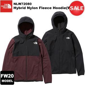 【30%OFF】THE NORTH FACE(ノースフェイス) Hybrid Nylon Fleece Hoodie(WOMENS)(ハイブリッドナイロンフリースフーディ) NLW72080 2020-21秋冬モデル|rakuzanso