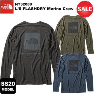 【30%OFF】THE NORTH FACE(ノースフェイス) L/S FLASHDRY Merino Crew(ロングスリーブフラッシュドライメリノクルー) NT32088 2020春夏モデル|rakuzanso