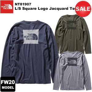 【30%OFF】THE NORTH FACE(ノースフェイス) L/S Square Logo Jacquard Tee(ロングスリーブスクエアロゴジャカードティー) NT81907 2020-21秋冬モデル|rakuzanso
