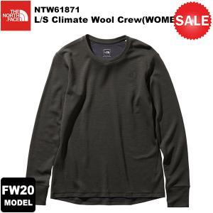 【30%OFF】THE NORTH FACE(ノースフェイス) L/S Climate Wool Crew(WOMENS)(ロングスリーブクライメイトウールクルー) NTW61871 2020-21秋冬モデル|rakuzanso