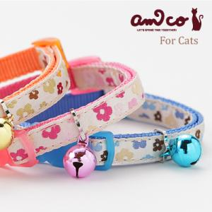 ●首輪 猫 ●猫の首輪 アミコ リボンフラワー猫カラー ●ネコポス(旧メール便)送料無料  [/メー...