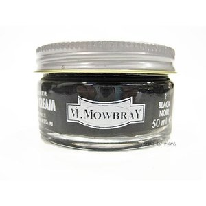 M.MOWBRAY(M.モゥブレィ) シュークリームジャー ブラック/黒 (保革・補色・艶出しクリーム)|ramblebyziema