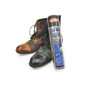 WOLY(ウォーリー) 防水・防汚スプレー 撥水スプレー 400ml  PROTECTOR 3×3 プロテクター  スムースレザー・起毛皮革・生地・布 靴  シューケア用品|ramblebyziema