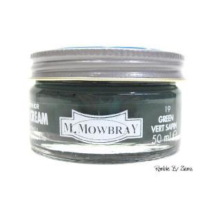 M.MOWBRAY(M.モゥブレィ) シュークリームジャー グリーン/緑 (保革・補色・艶出しクリーム) 靴クリーム・シューケア用品|ramblebyziema