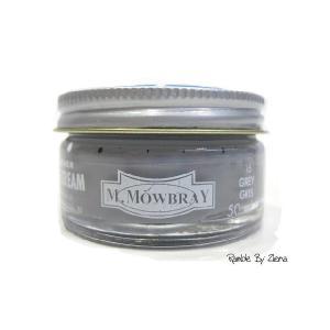 M.MOWBRAY(M.モゥブレィ) シュークリームジャー グレー/灰色 (保革・補色・艶出しクリーム) 靴クリーム・シューケア用品|ramblebyziema