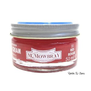 M.MOWBRAY(M.モゥブレィ) シュークリームジャー レッド/赤 (保革・補色・艶出しクリーム) 靴クリーム・シューケア用品|ramblebyziema