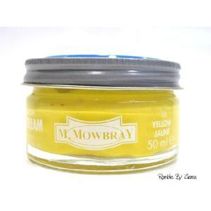 M.MOWBRAY(M.モゥブレィ) シュークリームジャー イエロー/黄色 (保革・補色・艶出しクリーム) 靴クリーム・シューケア用品 ramblebyziema