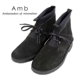 【AMB Ambassadors of minimalism エーエムビー アンバサダーズ】dobias 別注 ブラック レザー メンズシューズ|ramblebyziema