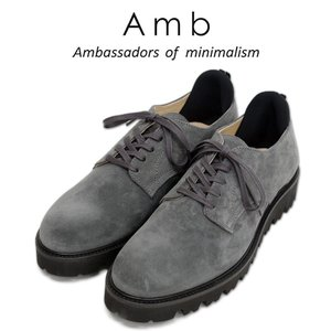 【AMB Ambassadors of minimalism エーエムビー アンバサダーズ】 ossip レザー ローカット スニーカー グレー メンズシューズ|ramblebyziema
