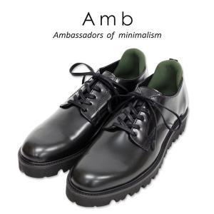 【AMB Ambassadors of minimalism エーエムビー アンバサダーズ】 ossip レザー ローカット スニーカー ブラック メンズシューズ|ramblebyziema