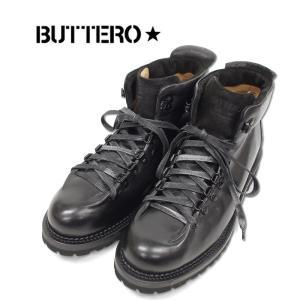【BUTTERO ブッテロ】ワークブーツ 本革 (B6601) BLACK ブラック(NERO) イタリア製 正規品 紳士靴|ramblebyziema